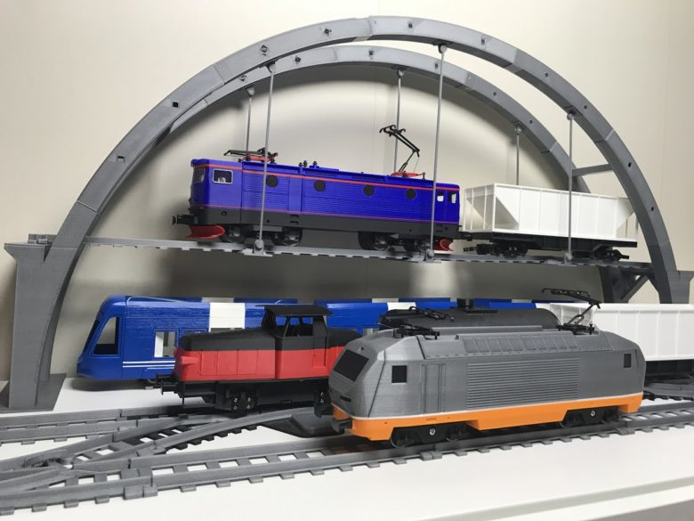 Presenting the OS-Railway system, fully 3D-printed model train